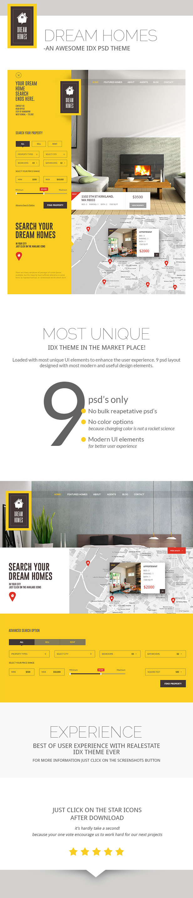 Dream Home-An Awesome IDX Psd Theme