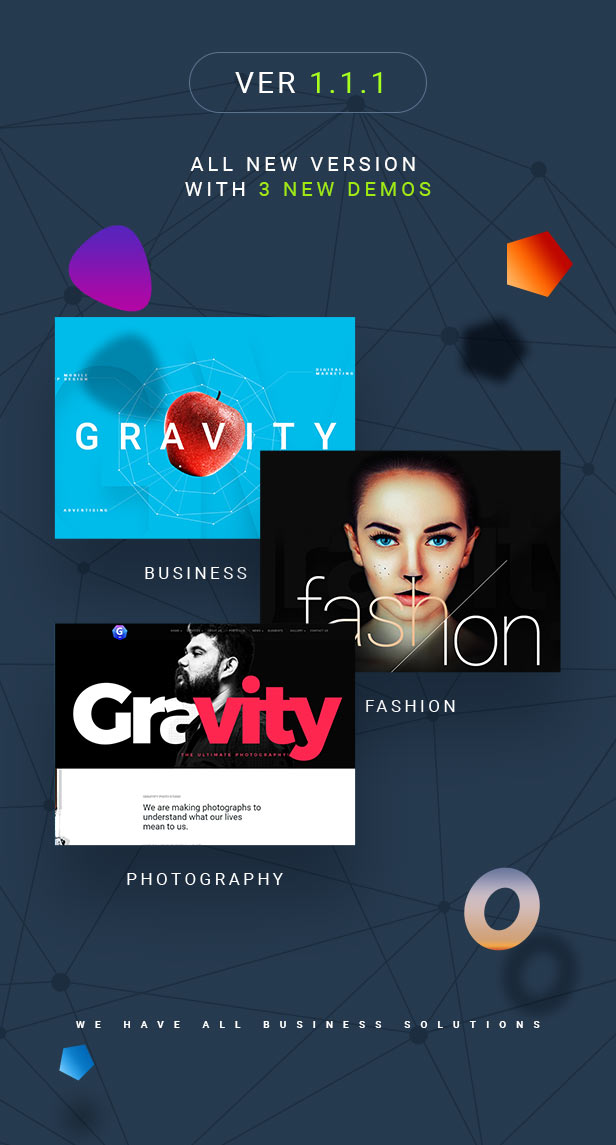 Gravitify | Multipurpose Business WordPress Theme