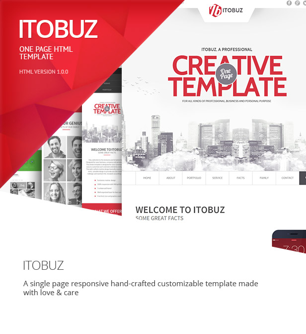 Itobuz One Page HTML Template
